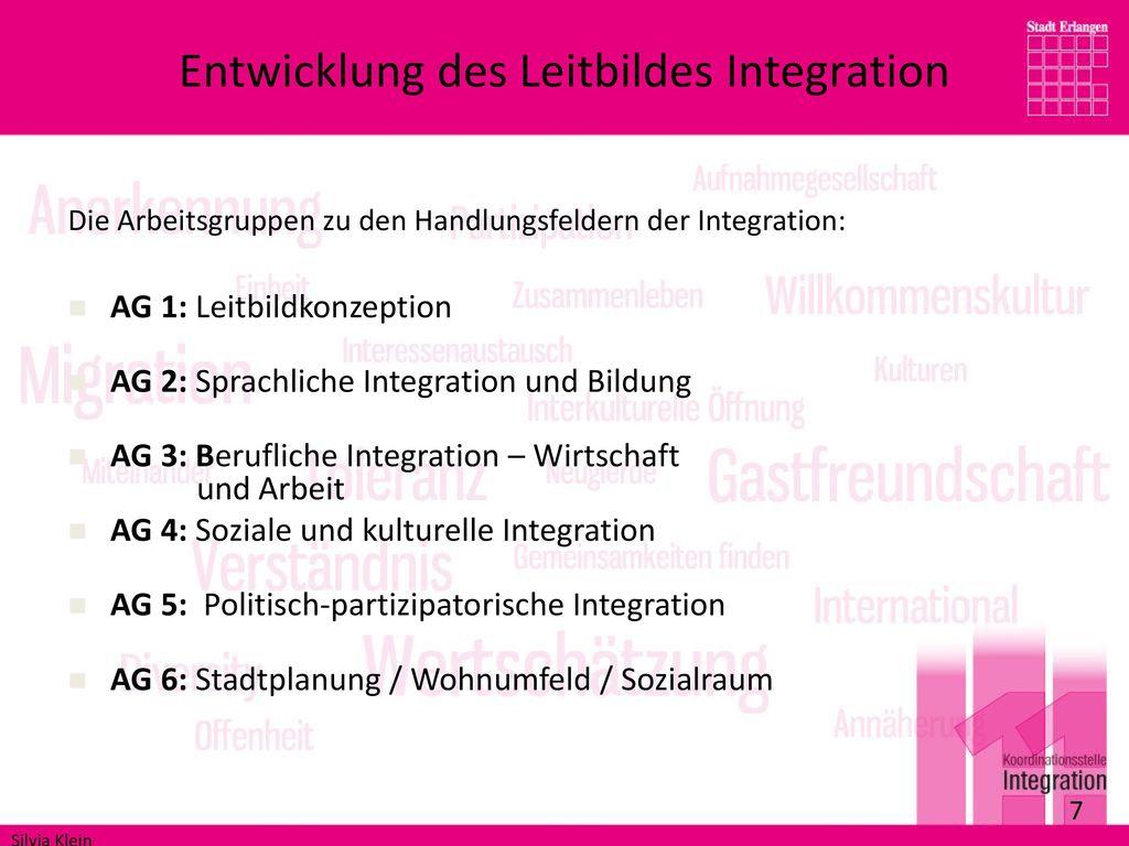 Entwicklung des Leitbildes Integration