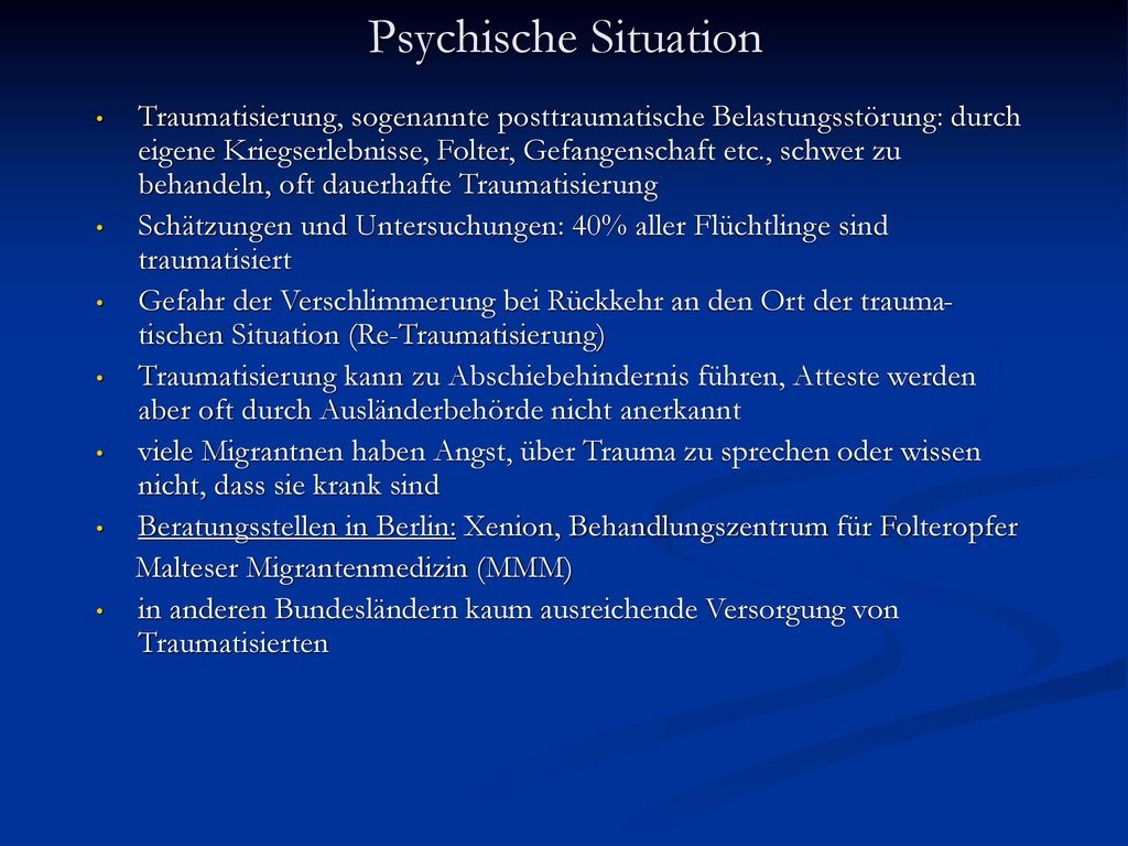 Psychische Situation