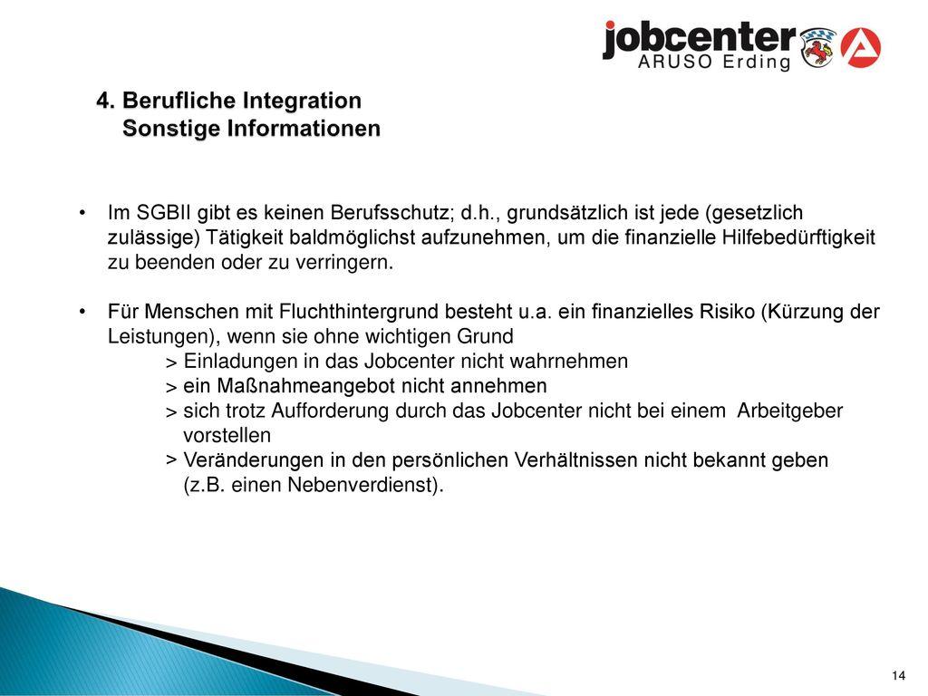 4. Berufliche Integration Sonstige Informationen