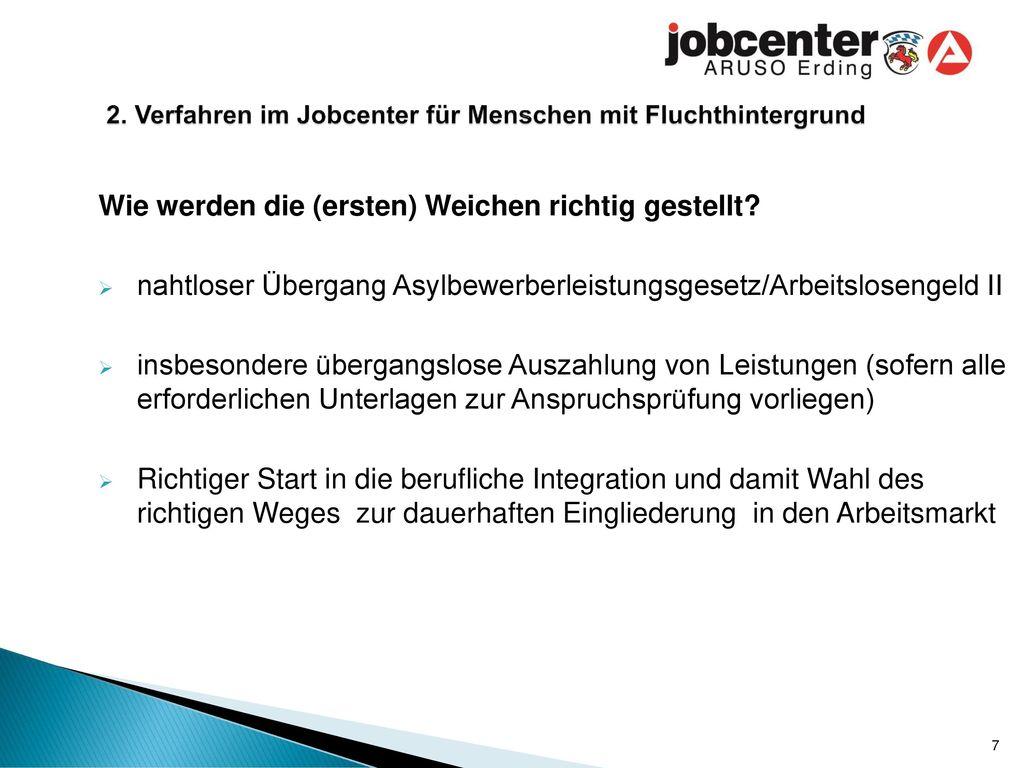 2. Verfahren im Jobcenter für Menschen mit Fluchthintergrund