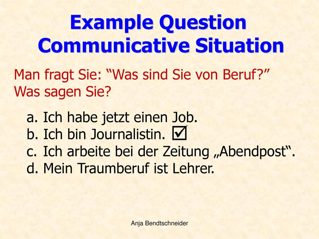 Communicative Situation