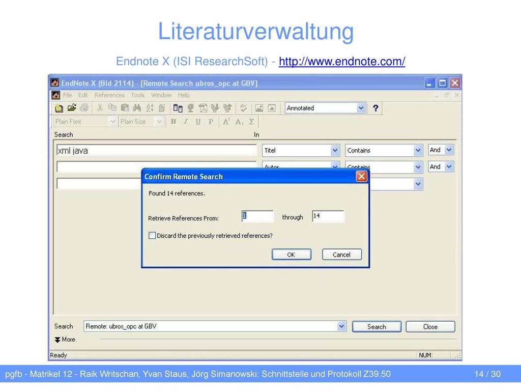 Endnote X (ISI ResearchSoft) - http://www.endnote.com/