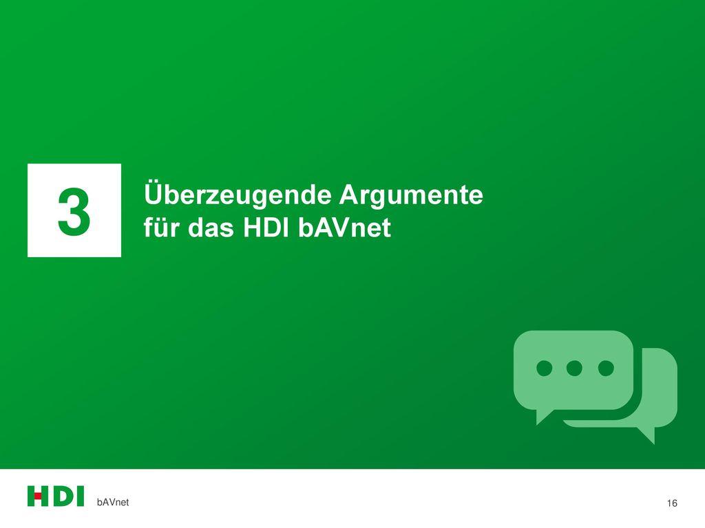 3 Überzeugende Argumente für das HDI bAVnet bAVnet