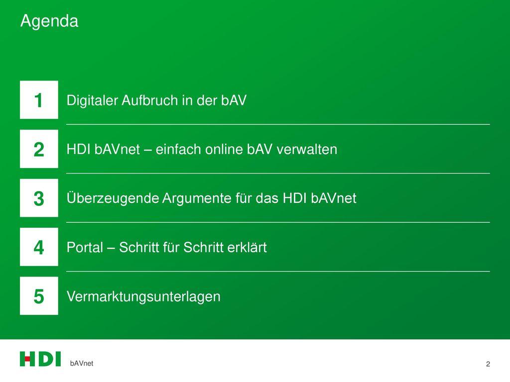 1 2 3 4 5 Agenda Digitaler Aufbruch in der bAV
