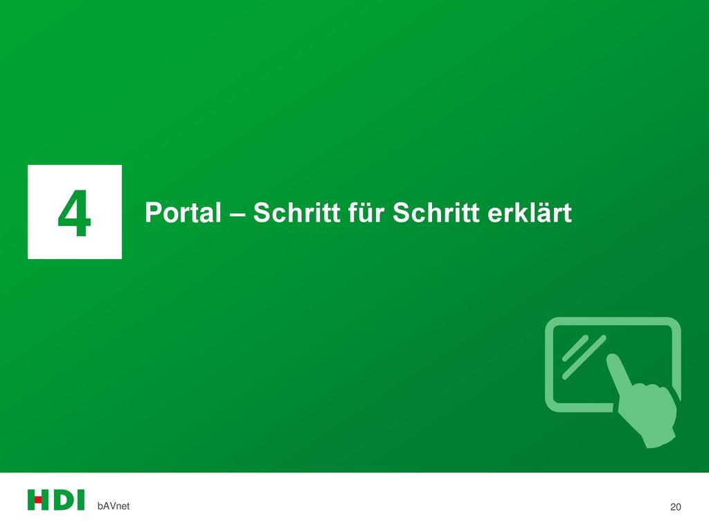 4 Portal – Schritt für Schritt erklärt bAVnet