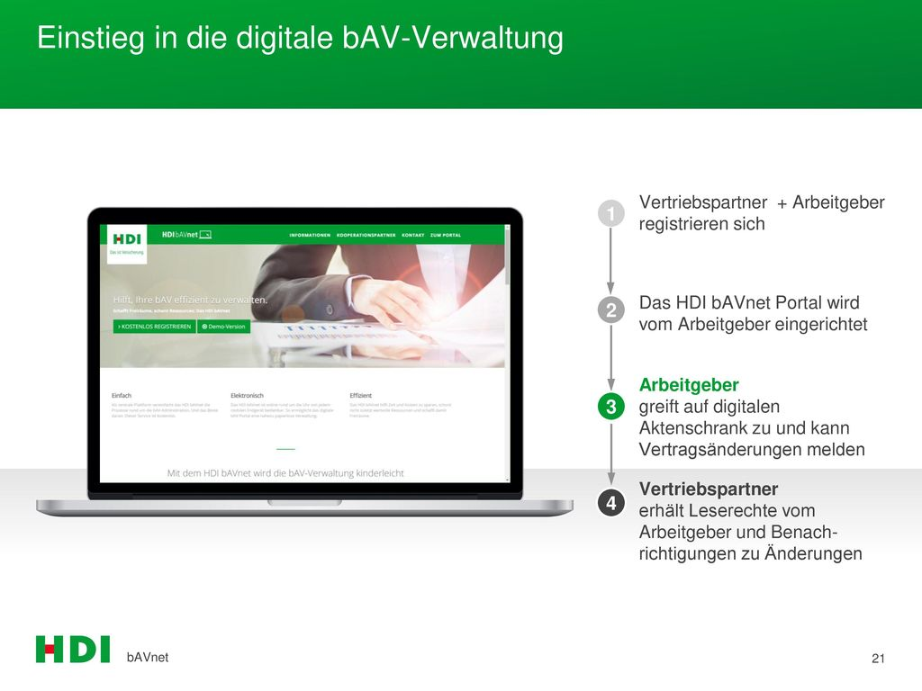Einstieg in die digitale bAV-Verwaltung