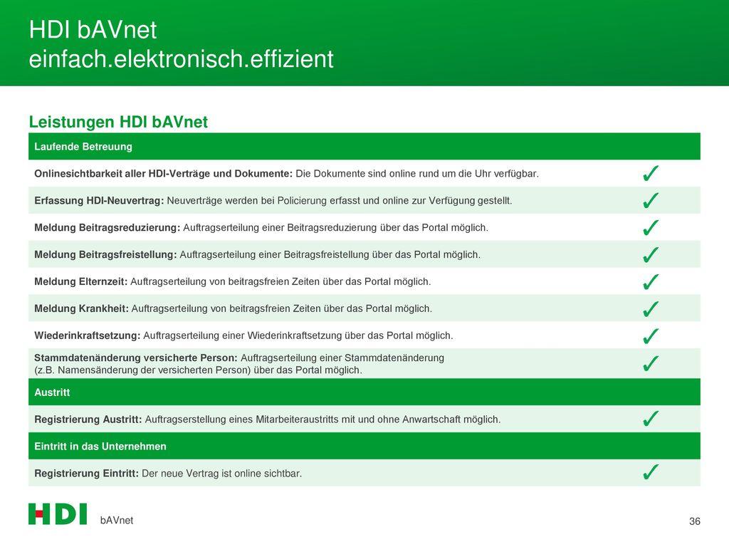 HDI bAVnet einfach.elektronisch.effizient