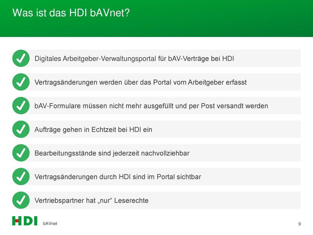 Was ist das HDI bAVnet Digitales Arbeitgeber-Verwaltungsportal für bAV-Verträge bei HDI.