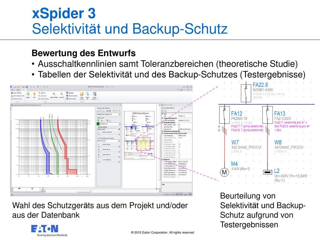 xSpider 3 Selektivität und Backup-Schutz