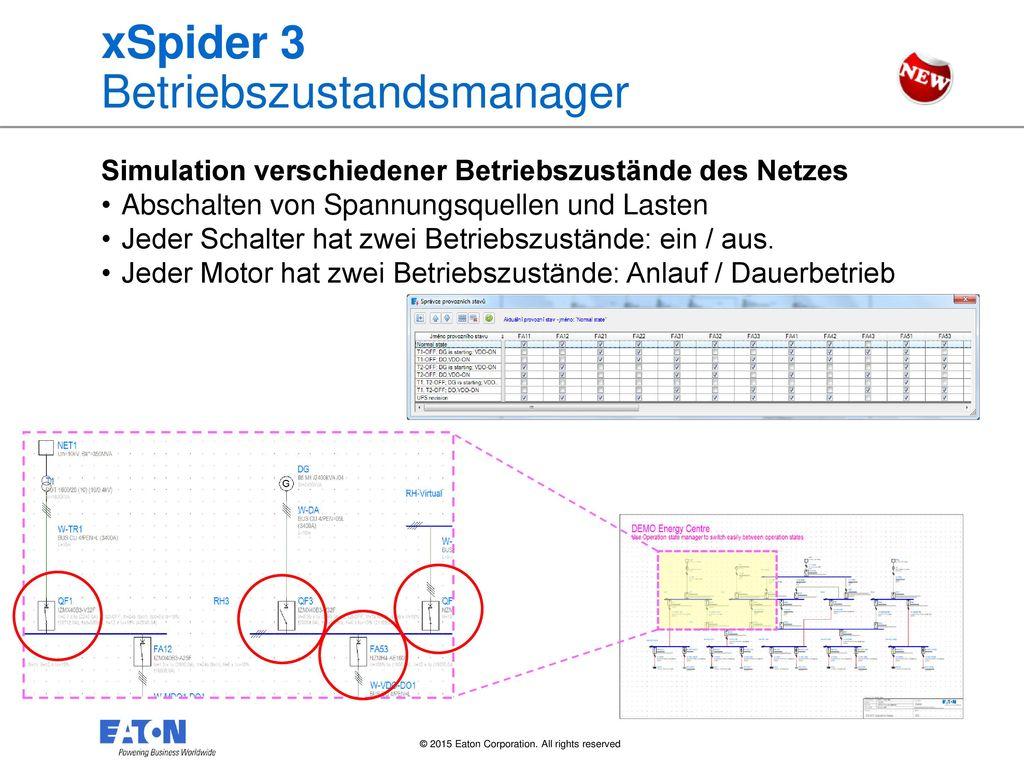 xSpider 3 Betriebszustandsmanager