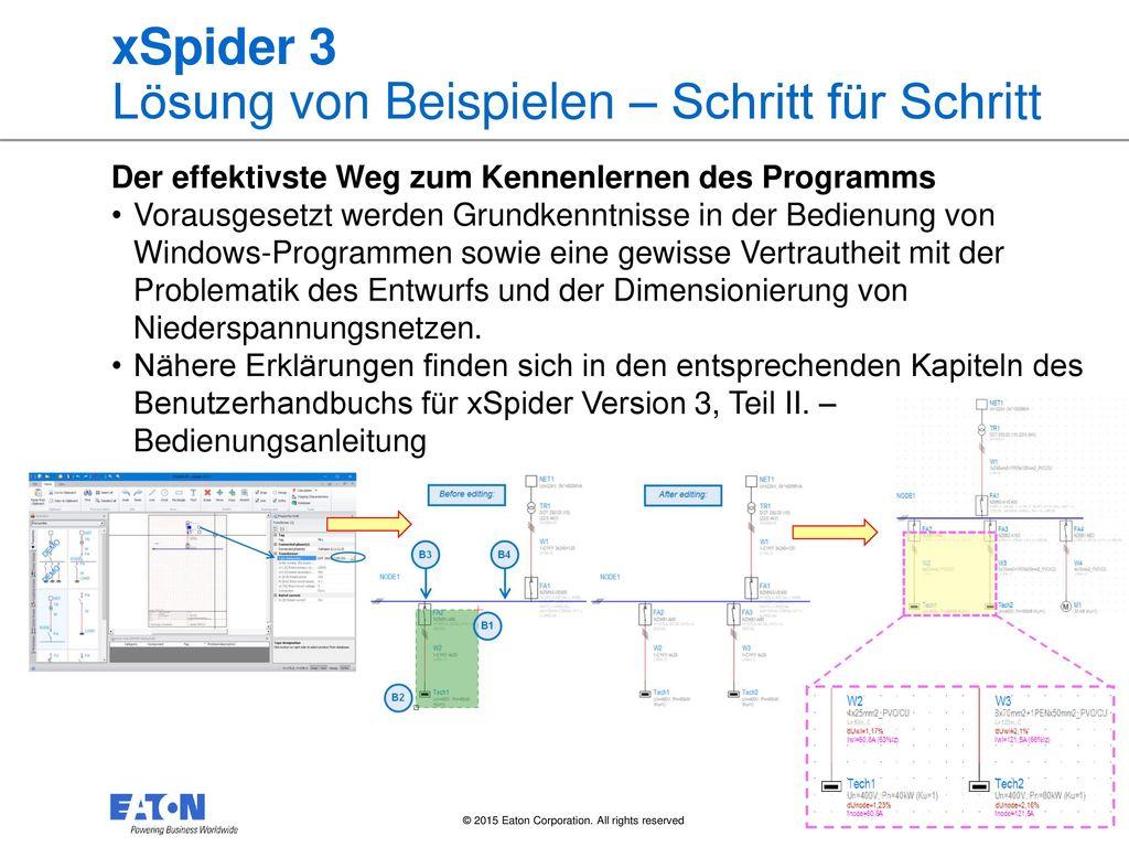 xSpider 3 Lösung von Beispielen – Schritt für Schritt