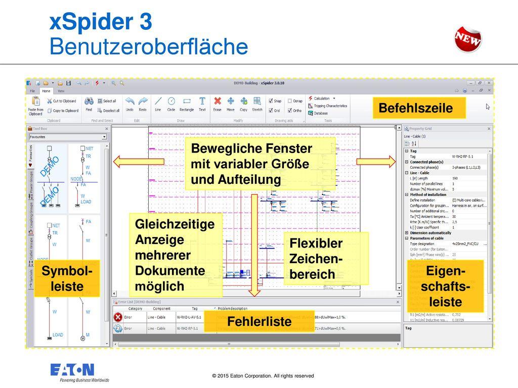 xSpider 3 Benutzeroberfläche
