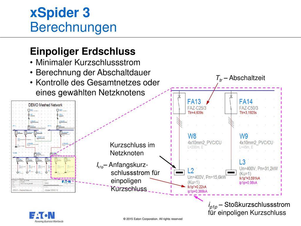 xSpider 3 Berechnungen Einpoliger Erdschluss
