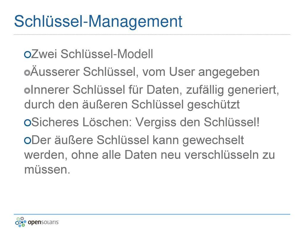 Schlüssel-Management