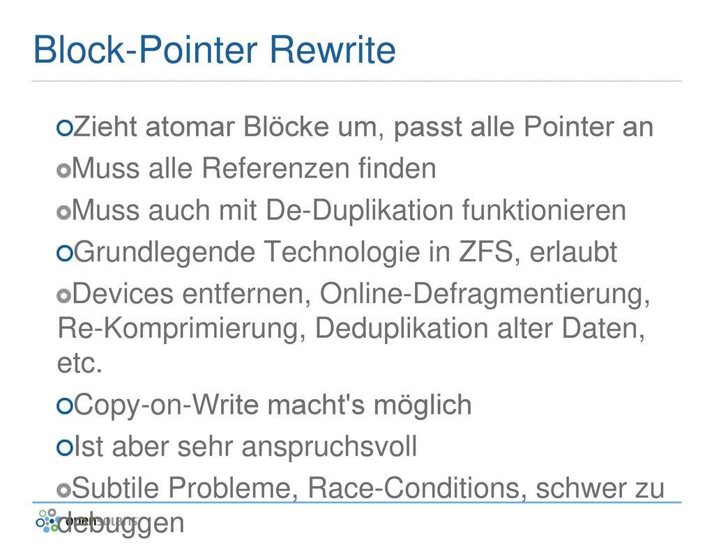 Block-Pointer Rewrite