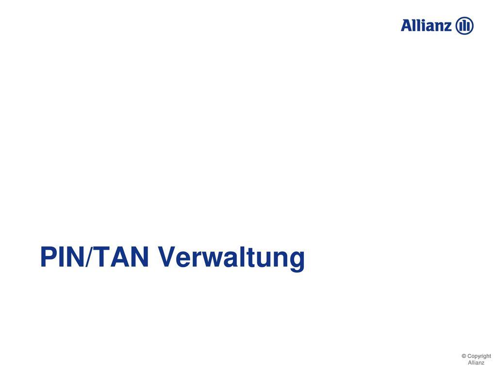 PIN/TAN Verwaltung