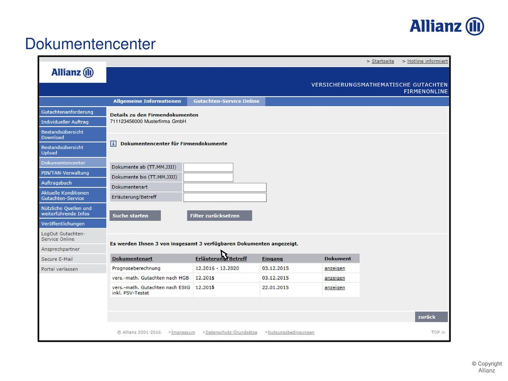 Dokumentencenter 711123456000 Musterfirma GmbH 5 5