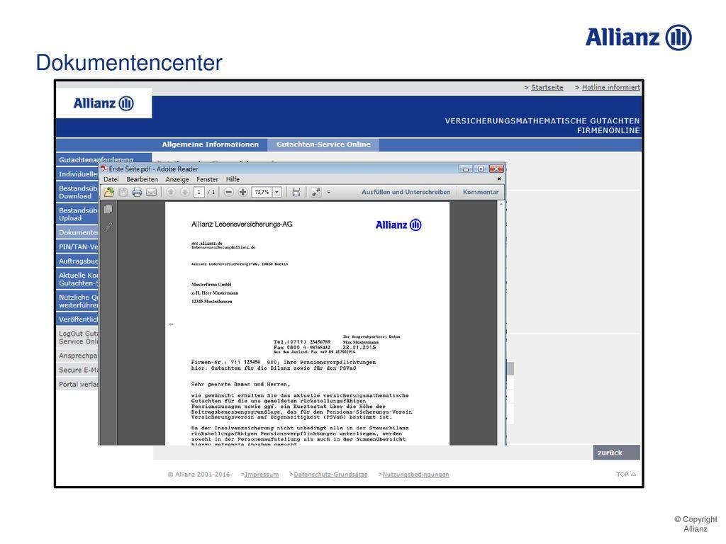 Dokumentencenter 123456 711123456000 Musterfirma GmbH Musterfirma GmbH