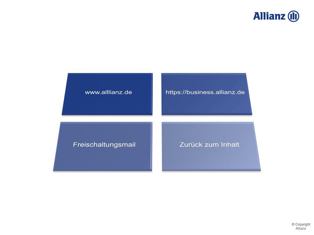 www.alllianz.de https://business.allianz.de Freischaltungsmail Zurück zum Inhalt