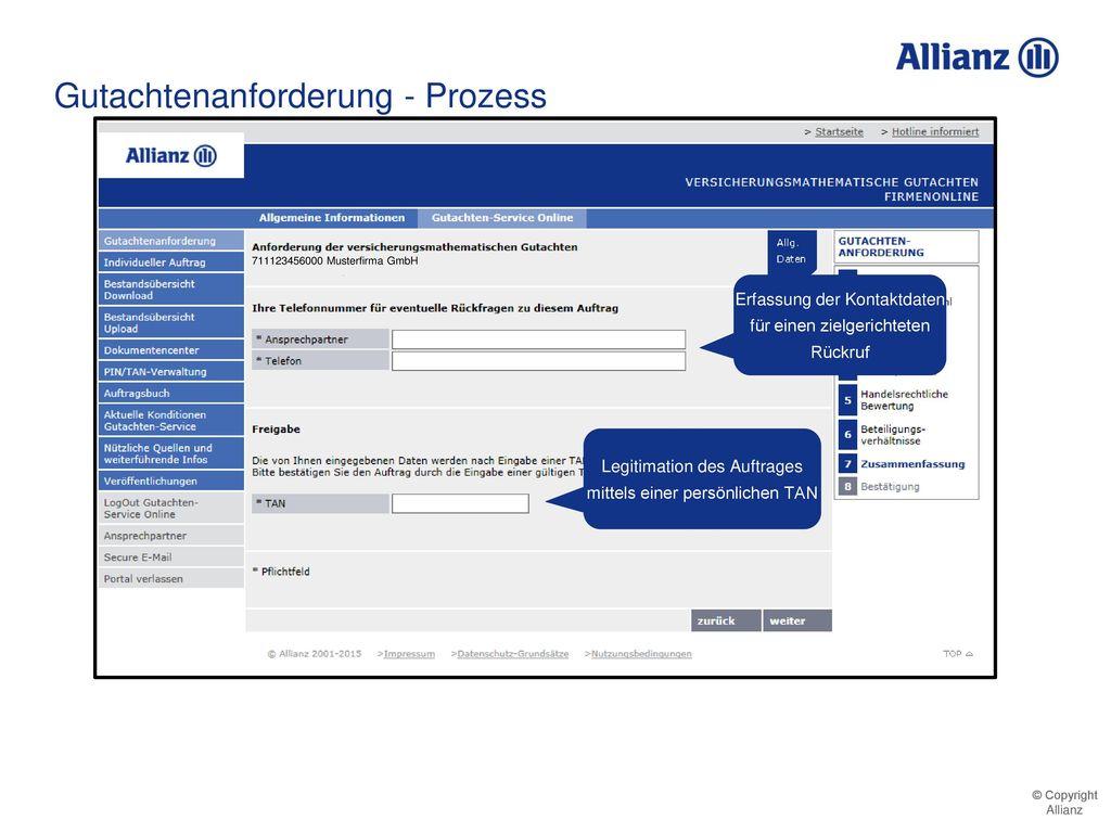 Gutachtenanforderung - Prozess