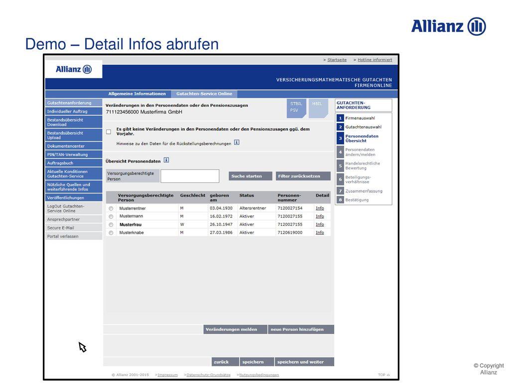 Demo – Detail Infos abrufen