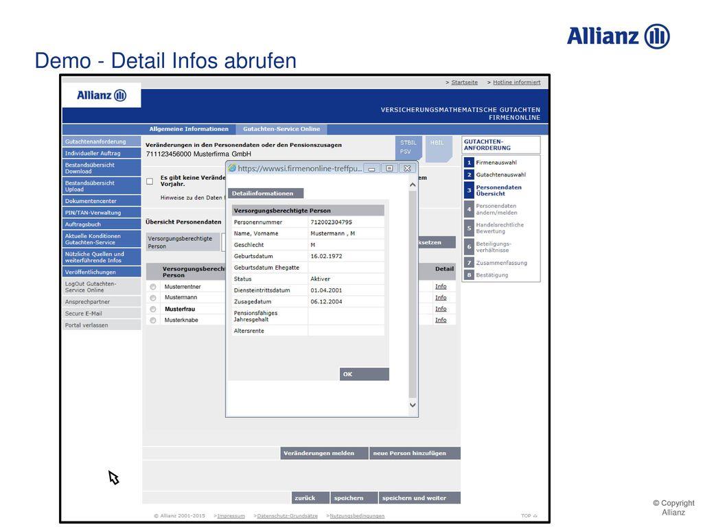 Demo - Detail Infos abrufen