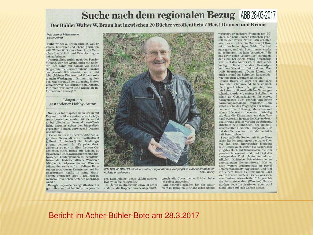 Bericht im Acher-Bühler-Bote am 28.3.2017
