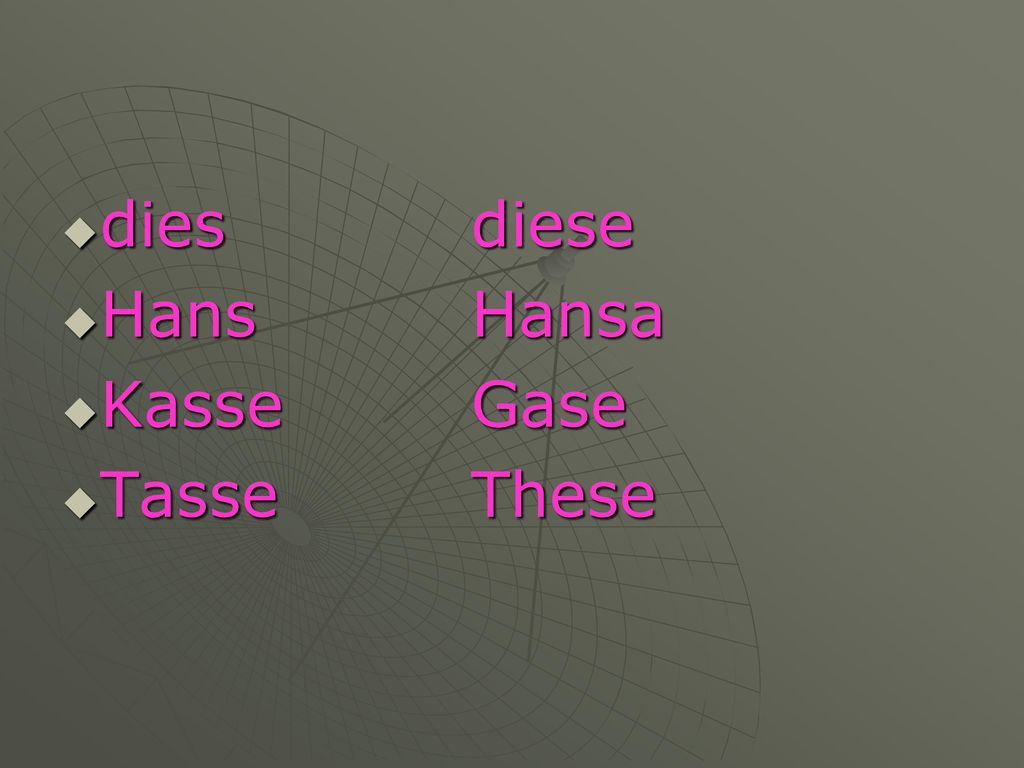 dies diese Hans Hansa Kasse Gase Tasse These