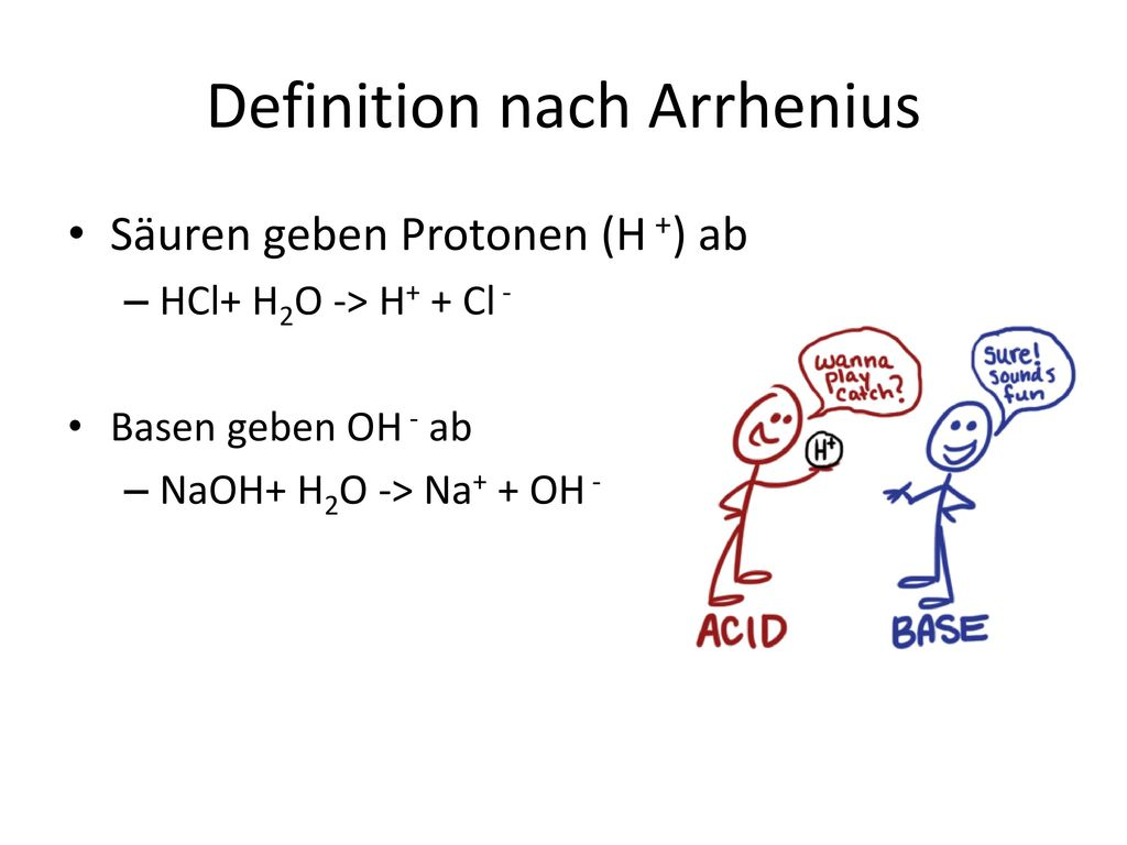 Definition nach Arrhenius