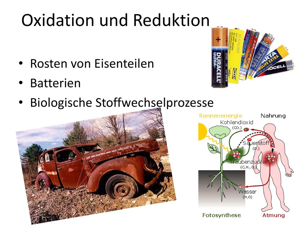 Oxidation und Reduktion