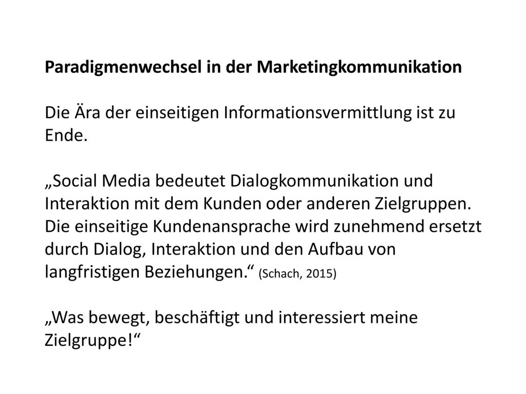 Paradigmenwechsel in der Marketingkommunikation