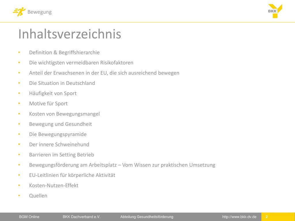 Inhaltsverzeichnis Definition & Begriffshierarchie