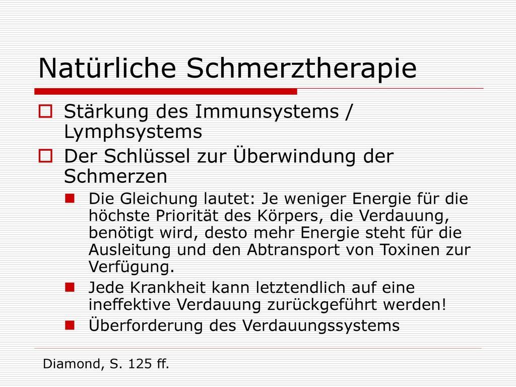 Natürliche Schmerztherapie