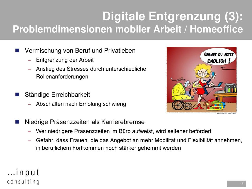 Digitale Entgrenzung (3): Problemdimensionen mobiler Arbeit / Homeoffice