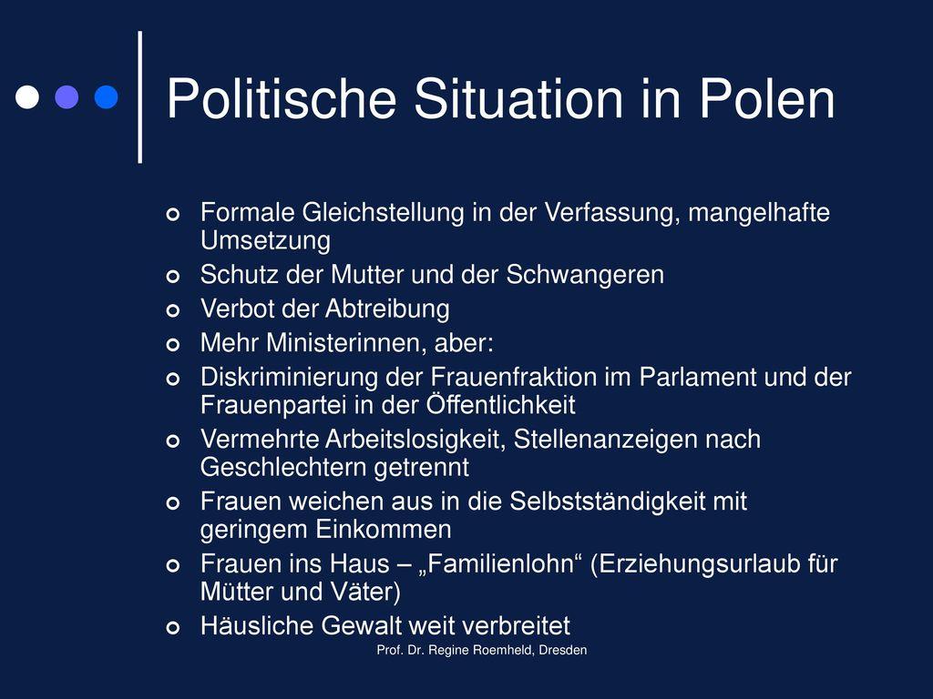 Politische Situation in Polen