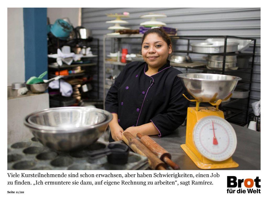 """Viele Kursteilnehmende sind schon erwachsen, aber haben Schwierigkeiten, einen Job zu finden. """"Ich ermuntere sie dazu, auf eigene Rechnung zu arbeiten , sagt Ramírez."""