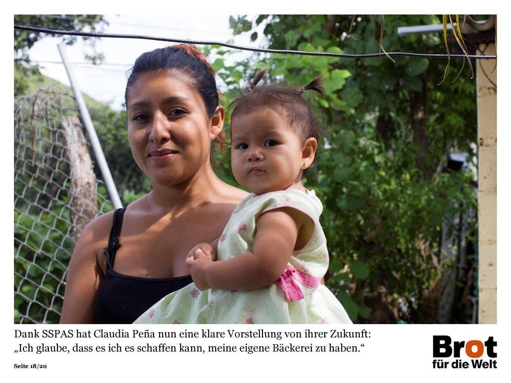 """Dank SSPAS hat Claudia Peña nun eine klare Vorstellung von ihrer Zukunft: """"Ich glaube, dass es ich es schaffen kann, meine eigene Bäckerei zu haben."""
