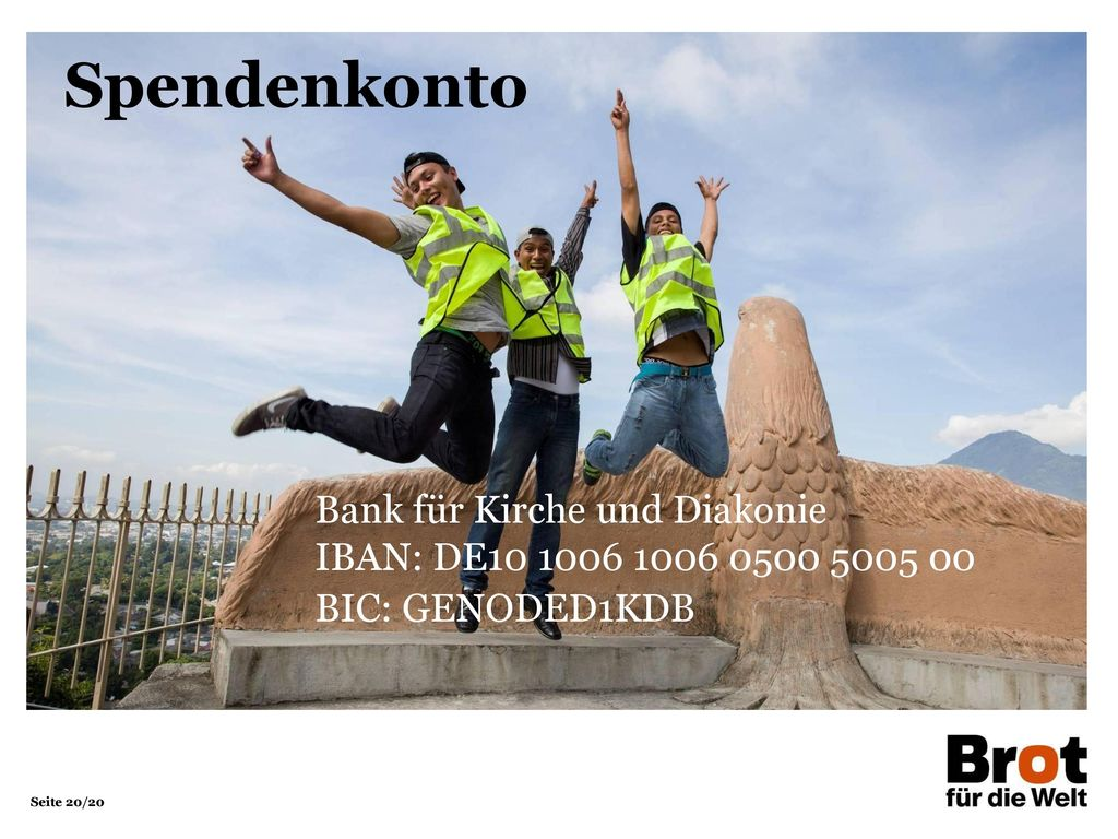 Spendenkonto Bank für Kirche und Diakonie