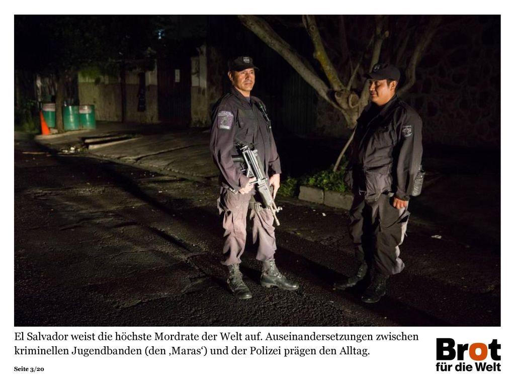 El Salvador weist die höchste Mordrate der Welt auf
