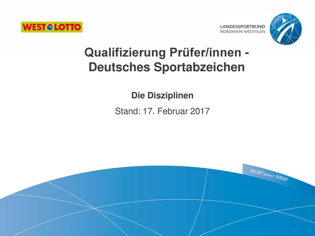 Qualifizierung Prüfer/innen - Deutsches Sportabzeichen