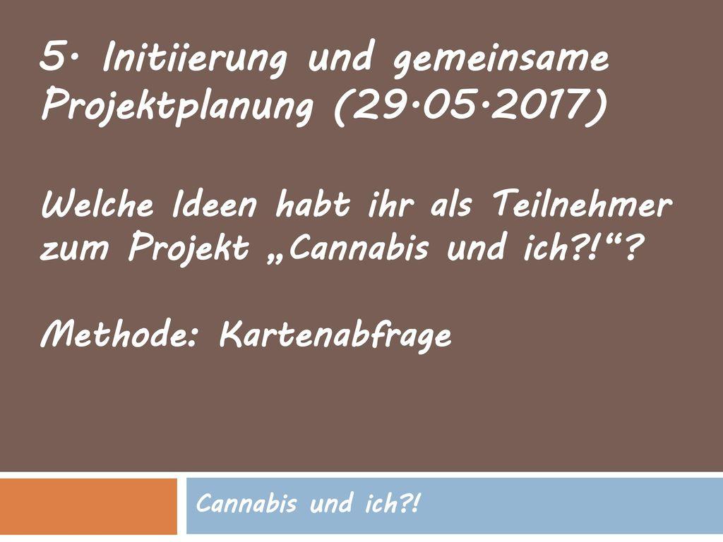 5. Initiierung und gemeinsame Projektplanung (29.05.2017)