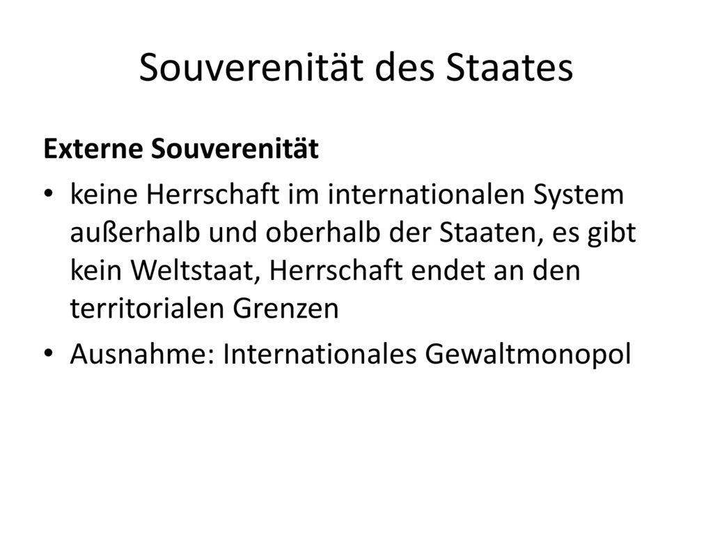 Souverenität des Staates