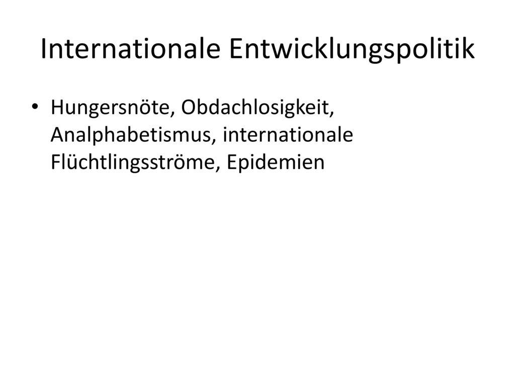 Internationale Entwicklungspolitik
