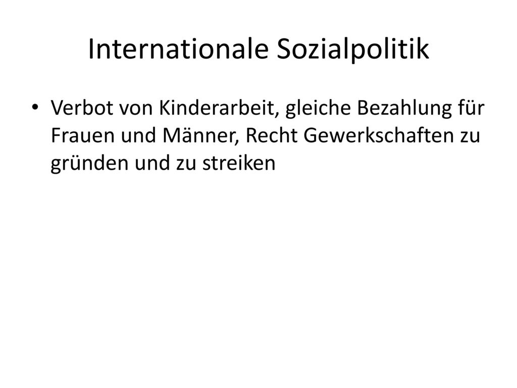 Internationale Sozialpolitik