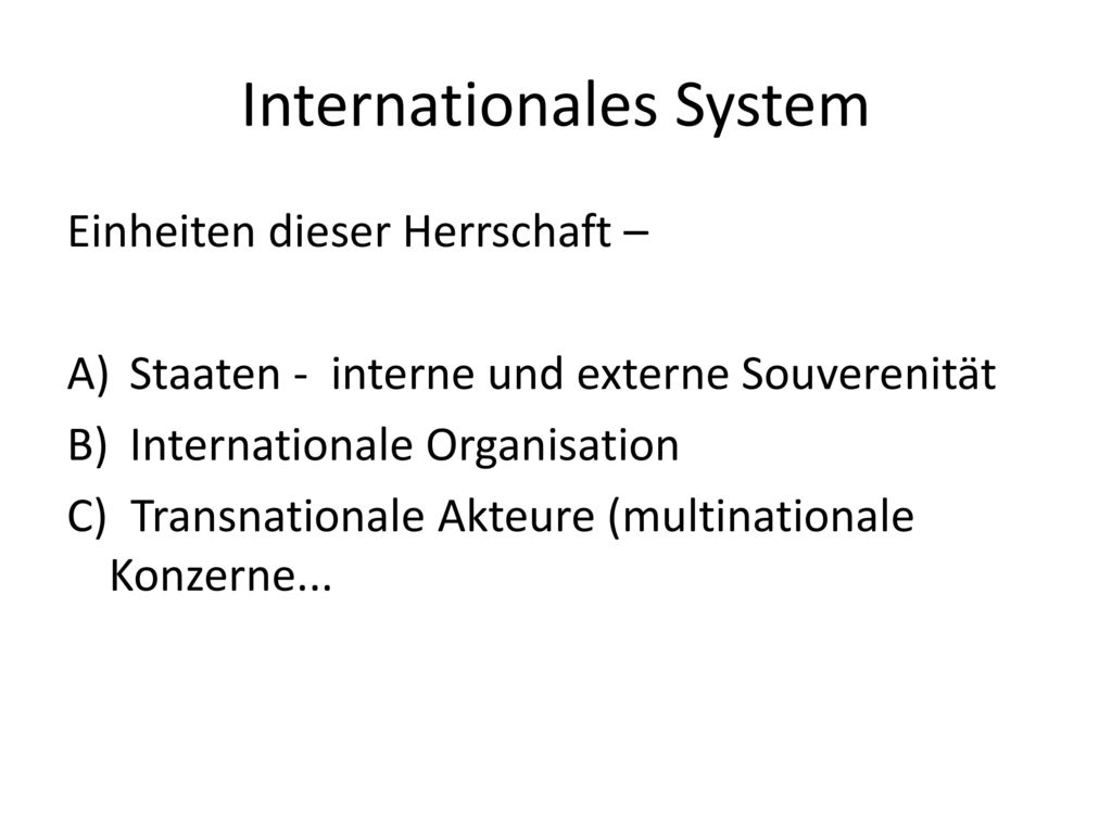 Internationales System