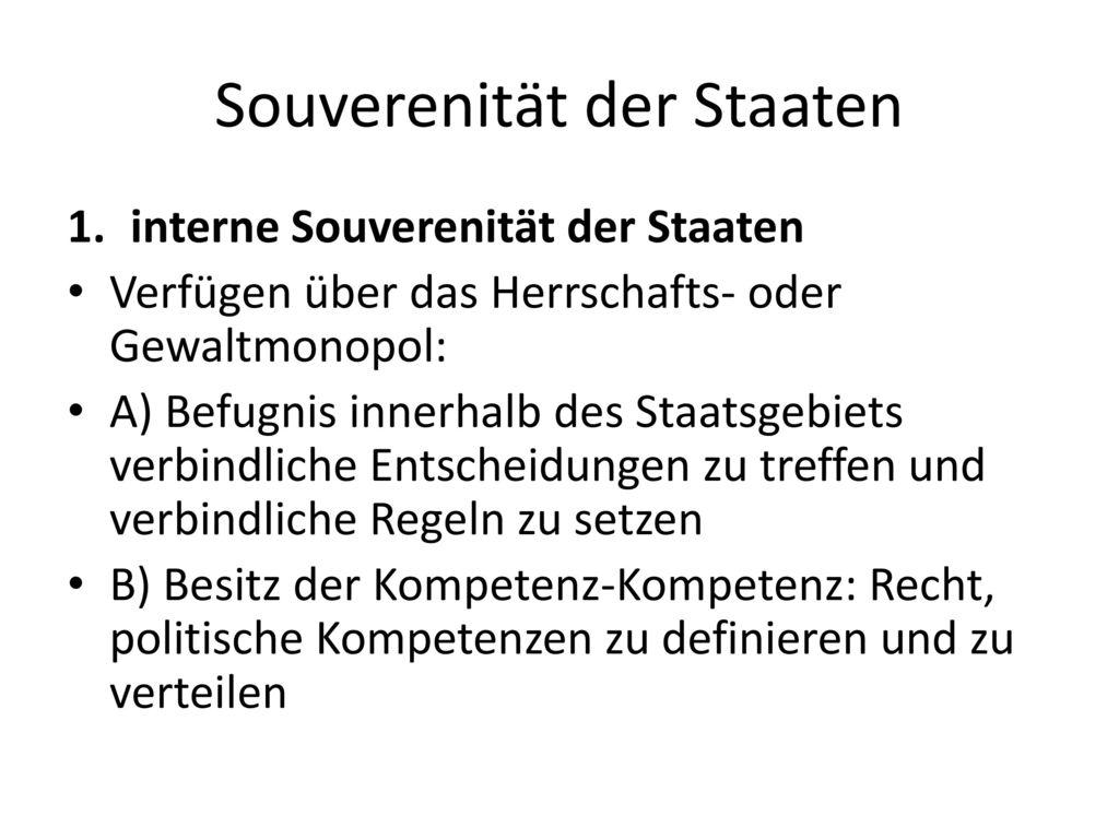 Souverenität der Staaten