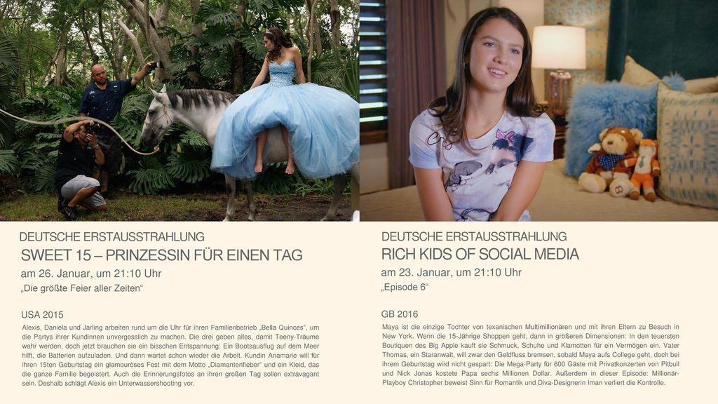 SWEET 15 – PRINZESSIN FÜR EINEN TAG RICH KIDS OF SOCIAL MEDIA