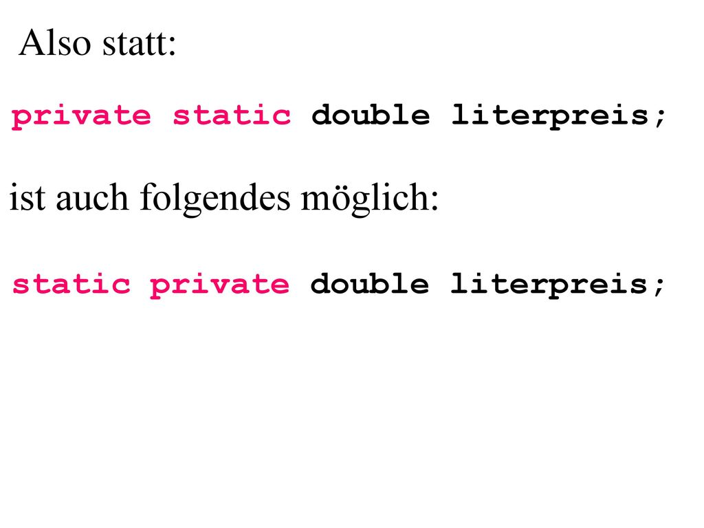 static private double literpreis;
