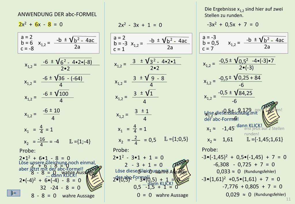 Die Gleichung hat nur eine Lösung x = 3!