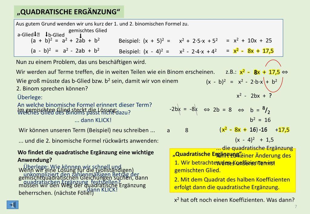 √ √ √ √ ( ) ( ) ( )  -q  +10  +2,25 ( )2 √ √  -1,5 - - VOLLSTÄNDIG